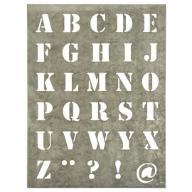 Pochoir zinc lettres