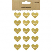 Stickers coeur kraft Love white - Lot de 60