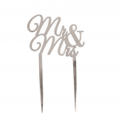 Cake topper Mr & Mrs métal