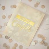 Sachet confettis glam or et cream