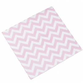 Serviettes cocktail chevrons rose