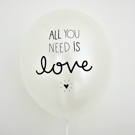 Ballons mix All you need is love - Lot de 6