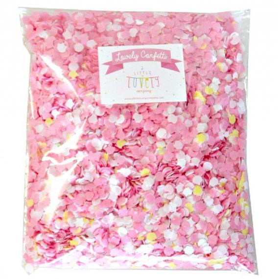 Grand sachet confettis multi roses