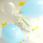 Mini ballons harmonie blue - Lot de 6