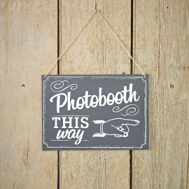 Pancarte rétro photobooth