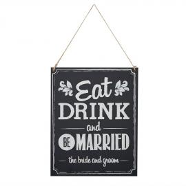 Pancarte rétro Eat, drink...