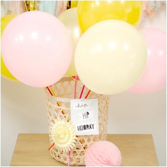 Ballons nacrés couleurs pastel - Lot de 6