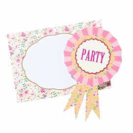 Invitations et enveloppes party fancy liberty - Lot de 12