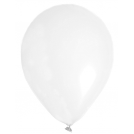 Ballons unis blancs - Lot de 8