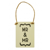 Mr and Mr pancarte decorative