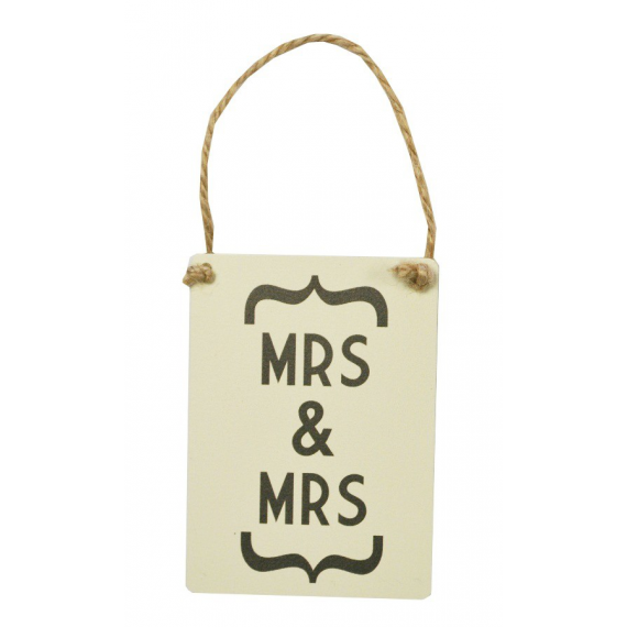 Mrs and Mrs pancarte mariage