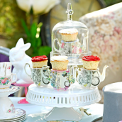 Mini cakestand So Alice - Lot de 6