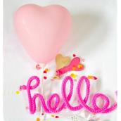 Mini ballons coeur harmonie pink - Lot de 6