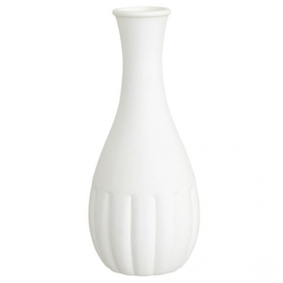 Vase céramique biscuit long col