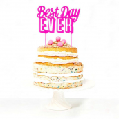 Cake topper best day pink