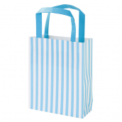 Sacs shopping rayures bleues - Lot de 8