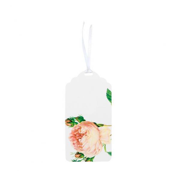 Etiquettes marque-place shabby roses - Lot 12