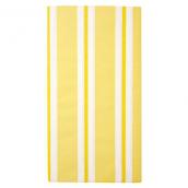 Nappe papier fairy rayures jaunes