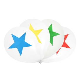 Ballons anniversaire étoiles multi