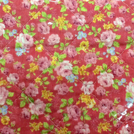 Boutis quilt red roses