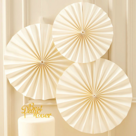 Rosaces papier blanc cassé so chic
