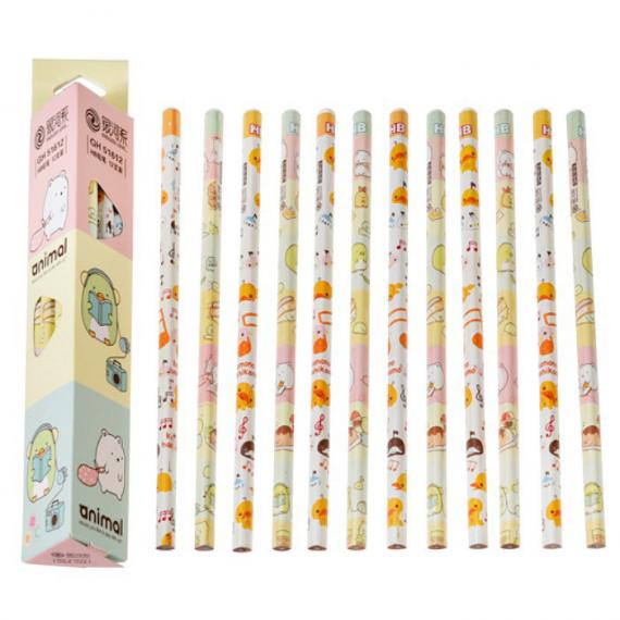 Crayons papier Kawaï animal - Boites de 12