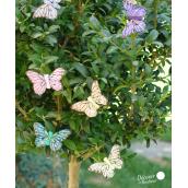 Papillons couleurs pastel - Boite de 6