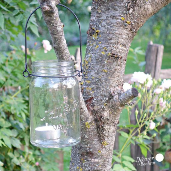 Photophore lanterne Mason clear