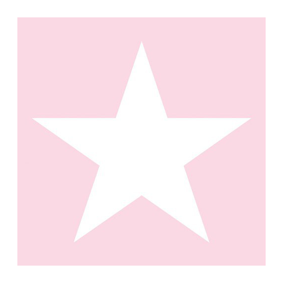 Serviettes papier rose star - Lot de 20