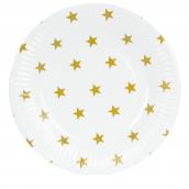 Assiettes étoiles or