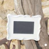 Tableau noir cadre ardoise blanc
