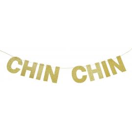 Guirlande glitter doré chin chin