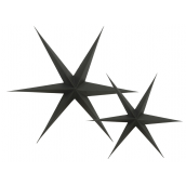 Etoiles carton 3D noires