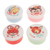 Boites goûter rétro lovely animals - Lot de 4