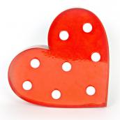 Coeur métal rouge led vintage