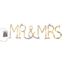 Enseigne tube led Mr & Mrs