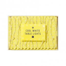 Guirlande lucioles lumineuses de table - blanc franc