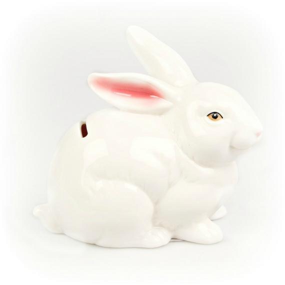 Tirelire lapin blanc