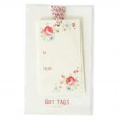 Etiquettes cadeaux petites roses - Lot de 6