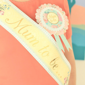 Echarpe baby shower Mum to be