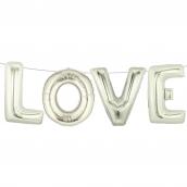 Guirlande ballons Love argent