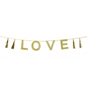 Guirlande paillettes dorées Love