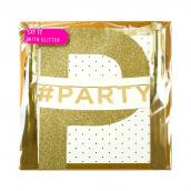 Guirlande paillettes dorées Party