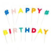 Bougies hashtag happy birthday