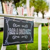 Pancarte bar à bonbons