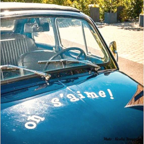 Stickers voiture des mariés