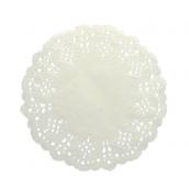 Napperons papier dentelle blanc - Lot de 10