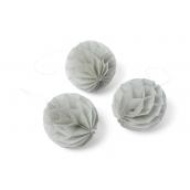 Boules papier alvéolé grises 6 cm - Lot de 10