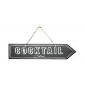 Pancarte flèche cocktail