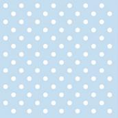 Serviettes papier bleu pois blanc - Lot de 20